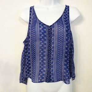Forever 21 tank top Small Sheer overlay Button up
